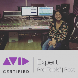 Ellie P. ProTools Certified - Recording and Production Classes at Kirk's Studio